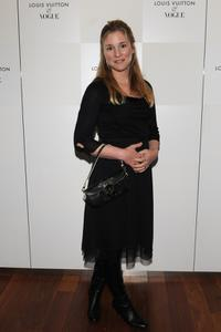 Natacha Regnier at the Terry Richardson's exhibition opening of Vogue Calendar.