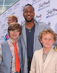 Garrett Ryan, Jaleel White and Parris Mosteller at the California premiere of