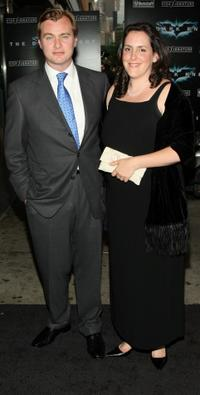 Christopher Nolan and Emma Thomas at the world premiere of