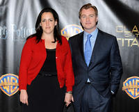 Emma Thomas and Christopher Nolan at the promotion of