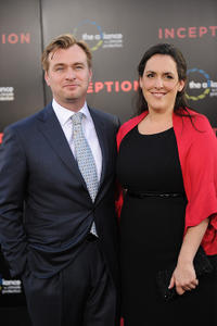 Christopher Nolan and Emma Thomas at the premiere of