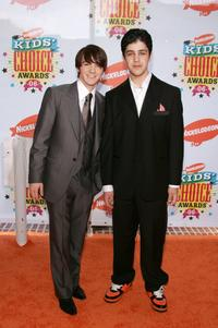 Drake Bell and Josh Peck at the Annual Kids Choice Awards.