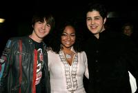 Drake Bell, Raven Simone and Josh Peck at the Annual Kids Choice Awards.