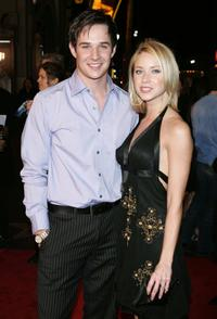 Ryan Merriman and his wife Micol at the premiere of
