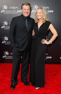 Erik Thomson and Rebecca Gibney at the L'Oreal Paris 2008 AFI Awards.