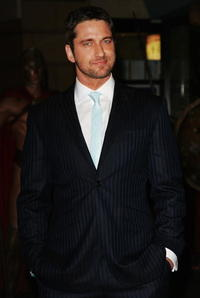 "Gerard Butler at the UK Premiere of ""300"" in London, England."