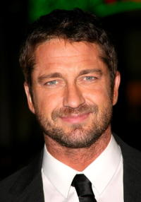 """""""P.S. I Love You"""" star Gerard Butler at the Hollywood premiere."""