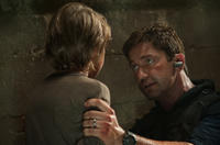 Finley Jacobsen and Gerard Butler in