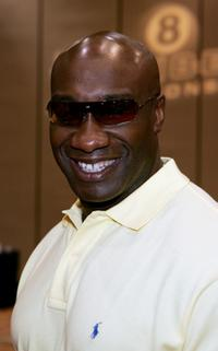 Michael Clarke Duncan at the International Pool Tour World 8-Ball Championship.
