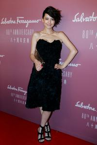 Gao Yuanyuan at the Salvatore Ferragamo 80th Anniversary party.