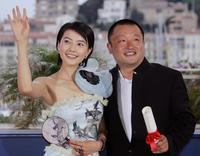Gao Yuanyuan and Wang Xiaoshuai at the 58th edition of Cannes International Film Festival.