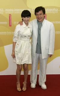 Gao Yuanyuan and Jackie Chan at the photocall of
