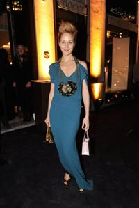 Jeanette Hain at the opening of the Gucci Store.