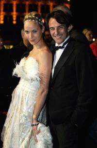 Jeanette Hain and Hans-Werner Meyer at the Hesse Movie Awards 2008.