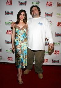 Cara Buono and Artie Lange at the premiere of
