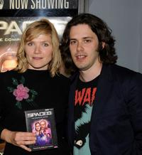 Jessica Stevenson and director Edgar Wright at the DVD release of