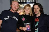 Simon Pegg, Jessica Stevenson and director Edgar Wright at the DVD release of
