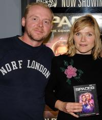 Simon Pegg and Jessica Stevenson at the DVD release of
