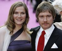 Jessica Stevenson and Martin Freeman at the premiere of