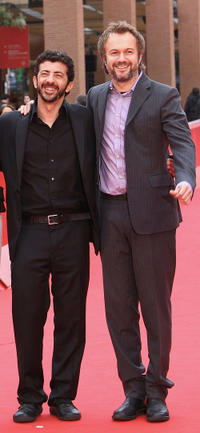 Director Alberto Rodriguez and Tristan Ulloa at the premiere of