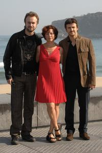 Tristan Ulloa, Director Iciar Bollain and Diego Martin at the photocall of