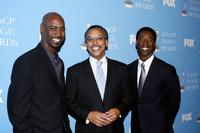 D.B. Woodside, Bruce S. Gordon and Isaiah Washington at the 38th NAACP Image Awards nominations.