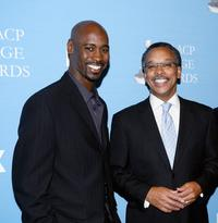 D.B. Woodside and Bruce S. Gordon at the 38th NAACP Image Awards nominations.