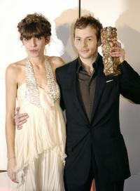 Malik Zidi and Lou Doillon at the France's Top Movie Awards during the 32nd Nuit des Cesar ceremony.