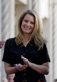 Bridget Fonda at the ceremony honoring her father, actor Peter Fonda with a star on the Hollywood Walk of Fame.