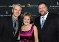 Chris Sanders, Bonnie Arnold and Dean Deblois at the BAFTA Los Angeles Awards Season Tea in California.