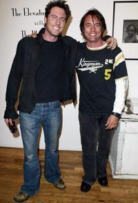 Ryan Alosio and James Wilder at the Heike Jarick Fashion Show presented by Blackbook Magazine.