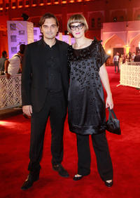 Leon Lucev and director Jasmila Zbanic at the 2010 Doha Tribeca Film Festival in Qatar.