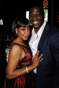 Tichina Arnold and Adewale Akinnuoye-Agbaje at the Fox Searchlight Oscar after party of