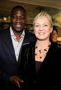 Adewale Akinnuoye-Agbaje and Claire Chapman at the UK Film Council US Post Oscars Brunch.
