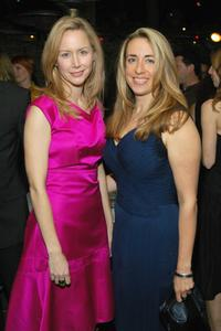 Megan Dodds and Katharine Viner at the after party of the opening of