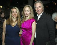 Katharine Viner, Megan Dodds and Alan Rickman at the after party of the opening of