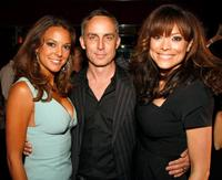 Eva La Rue, Wallace Langham and Liz Vassey at the after party of the grand opening of