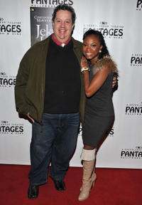 Paul Vogt and Naturi Naughton at the pre-Broadway opening night and party of