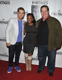 Singer Lance Bass, Naturi Naughton and Paul Vogt at the pre-Broadway opening night and party of