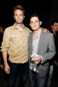 Garret Dillahunt and Enver Gjokaj at the Fox Fall Eco-Casino party.