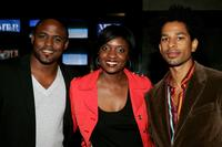 Wayne Brady, Lola Ogunnaike and Toure at the world premiere of