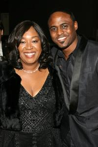 Shonda Rhimes and Wayne Brady at the 39th NAACP Image Awards.