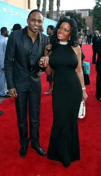 Wayne Brady and Wendy Brown at the 39th NAACP Image Awards.