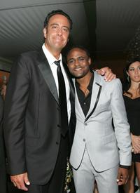 Brad Garrett and Wayne Brady at the 20th Century Fox Emmy Party.