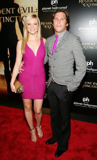 Amy Smart and Branden Williams at the premiere of
