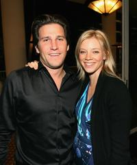 Branden Williams and Amy Smart at the cocktail party during the 20th Anniversary Genesis Awards.