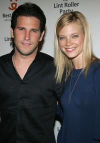 Branden Williams and Amy Smart at the Best Friends Animal Society's Lint Roller Party.