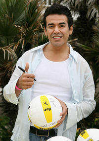 Jose Yenque at the Spike for Hope Celebrity Charity Beach Volleyball Tournament in California.