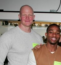 Derek Mears and Arlen Escarpeta at the Anchor Bay Entertainment's Jason Voorhees reunion.