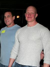 C.J. Graham and Derek Mears at the Anchor Bay Entertainment's Jason Voorhees reunion.